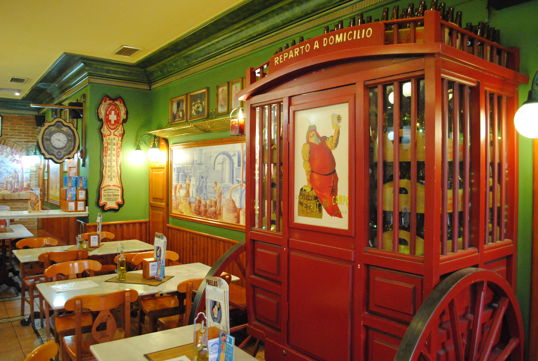 foto del restaurante la cruz blanca, planes navidad madrid