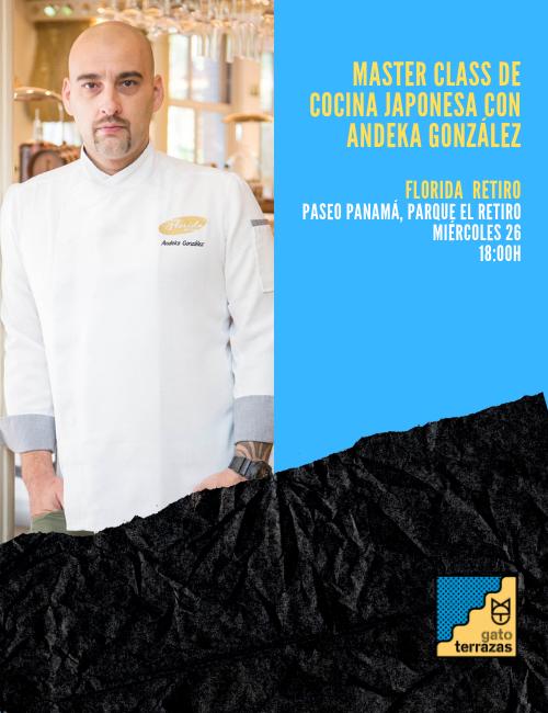 Masterclass cocina japonesa con el chef de Floria Retiro
