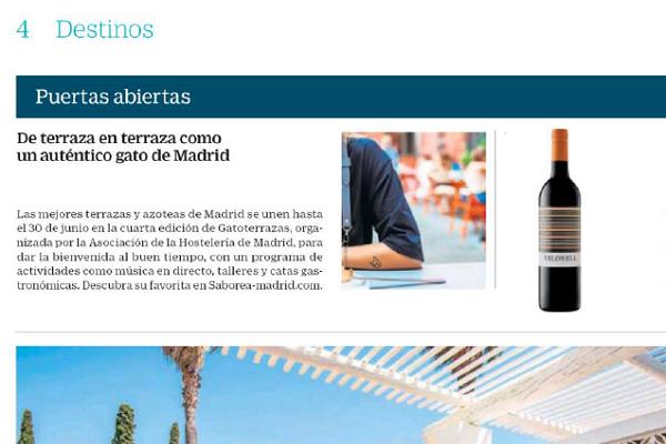 Cinco Días: de terraza en terraza como un gato de Madrid
