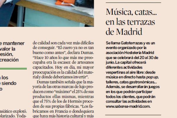 Expansión: Música, catas... en las terrazas de Madrid