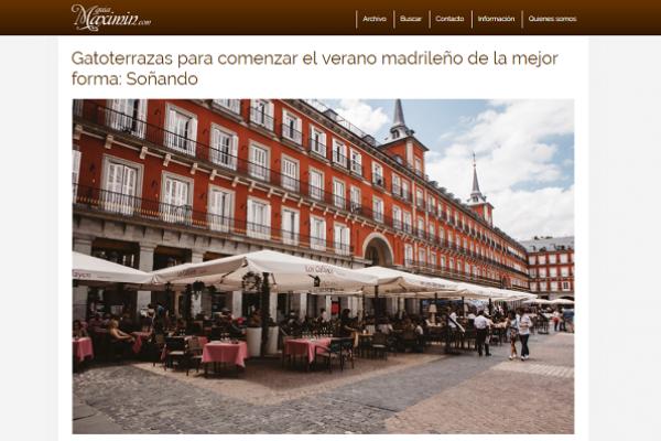 Gatoterrazas para comenzar el verano madrileño de la mejor forma: Soñando