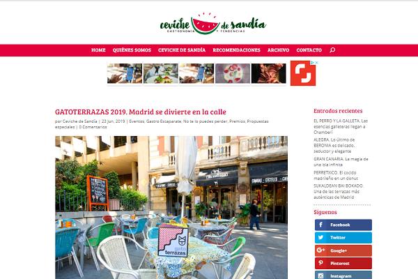Ceviche de Sandía: GATOTERRAZAS 2019. Madrid se divierte en la calle