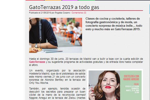 Comer, Beber, Dormir: GatoTerrazas 2019 a todo gas