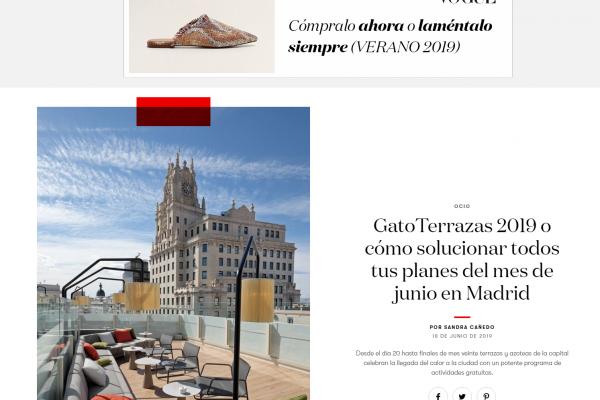 GatoTerrazas 2019 o cómo solucionar todos tus planes del mes de junio en Madrid